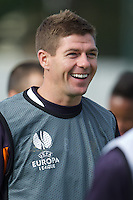 LIVERPOOL, ENGLAND - Wednesday, October 3, 2012: Liverpool's captain Steven Gerrard during a training session at Melwood Training Ground ahead of the UEFA Europa League Group A match against Udinese Calcio. (Pic by David Rawcliffe/Propaganda)