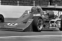 INDIANAPOLIS, IN: AJ Foyt drives his Coyote 75/Foyt TC during practice for the Indianapolis 500 on May 29, 1977, at the Indianapolis Motor Speedway.