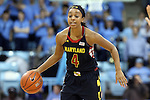 05 January 2014: Maryland's Lexie Brown. The University of North Carolina Tar Heels played the University of Maryland Terrapins in an NCAA Division I women's basketball game at Carmichael Arena in Chapel Hill, North Carolina. Maryland won the game 79-70.