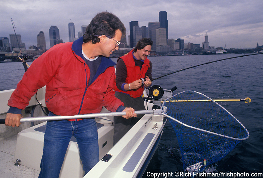 Fishing in boat near downtown seattle rich frishman for Fishing in seattle washington