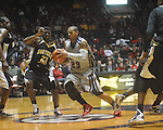 "Ole Miss guard Trevor Gaskins (23)  is stripped of the ball by Southern Mississippi guard Angelo Johnson (23) at C.M. ""Tad"" Smith Coliseum in Oxford, Miss. on Saturday, December 4, 2010."