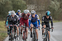 former winners of the race Michal Kwiatkowski (POL/SKY) &amp; Zdenek Stybar (CZE/QuickStep Floors) set the pace in the front of this elite group (of race leaders)<br /> <br /> 11th Strade Bianche 2017