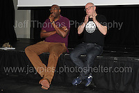 Film director Cass Pennant at the Red House question and answer session following the showing of his short film &quot;Bevereley&quot; during the Merthyr Rising Festival 2016 in Merthyr Tydfil on Saturday June 4th and Sunday June 5th 2016. <br /> <br /> <br /> Jeff Thomas Photography -  www.jaypics.photoshelter.com - <br /> e-mail swansea1001@hotmail.co.uk -<br /> Mob: 07837 386244 -