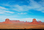 Artist's Point Overlook, Merrick Butte, Sentinel Mesa, Big Indian, East Mitten, Castle, Bear and Rabbit and Stagecoach Buttes, Monument Valley Navajo Tribal Park, Navajo Nation Reservation, Utah/Arizona Border
