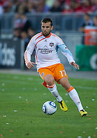 01 July 2010:  Houston Dynamo defender Mike Chabala #17 in action during a game between the Houston Dynamo and the Toronto FC at BMO Field in Toronto..Final score was 1-1....