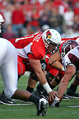 18 October 2008: Jonathan St. Pierre prepares to snap the ball in a game which the Missouri State Bears came from behind to beat the Illinois State Redbirds 34-28 in front of 13,292 fans at Hancock Stadium on Illinois State Universities campus in Normal Illinois