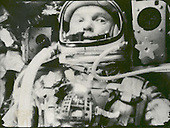 "Astronaut John Glenn photographed in space on February 20, 1962 by an automatic sequence motion picture camera during his flight on ""Friendship 7."" Glenn was in a state of weightlessness traveling at 17,500 mph as these pictures were taken..Credit: NASA via CNP"