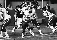 Ron Lancaster Saskatchewan Roughriders quarterback. Saskatchewan Roughriders vs Ottawa Rough Riders 1976. Copyright photograph Scott Grant