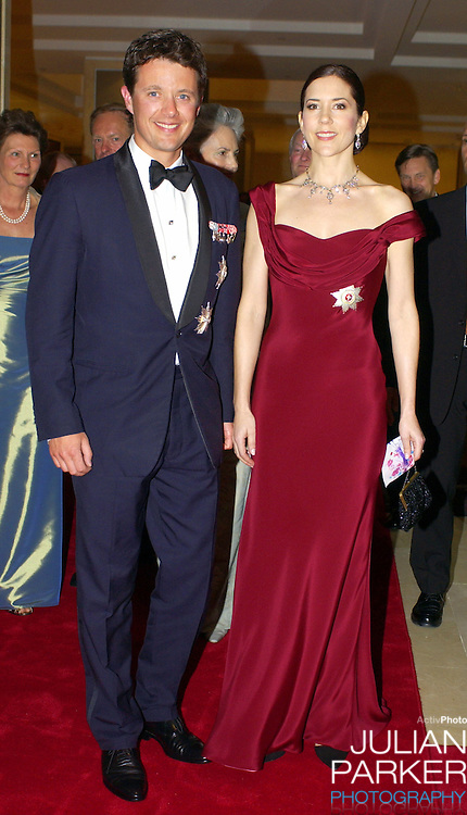 Crown Prince Frederik & Crown Princess Mary of Denmark leave the Shangri-La Hotel in Sydney to attend a State Dinner at Government House..