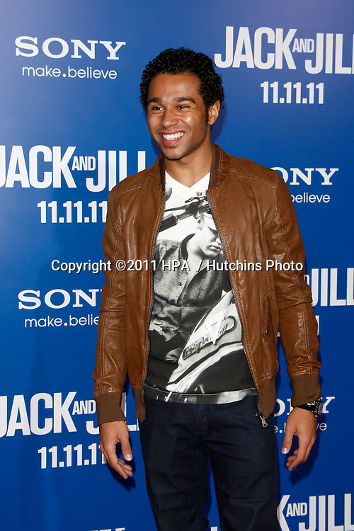 LOS ANGELES - NOV 6:  Corbin Bleu arrives at the Jack and Jill Premiere at Regency Village Theatre on November 6, 2011 in Westwood, CA