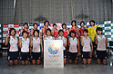 Japan Women's Hockey Team Group (JPN),.JUNE 14, 2012 - Hockey : Japan National Team during the Press Conference about the entering representative of London Oiympic Games at Kishi Memorial Gymnasium, Tokyo, Japan. (Photo by Jun Tsukida/AFLO SPORT) [0003].