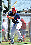 1 March 2010: Washington Nationals' catcher Ivan Rodriguez takes batting practice during Spring Training at the Carl Barger Baseball Complex in Viera, Florida. Mandatory Credit: Ed Wolfstein Photo