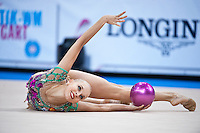 September 07, 2015 - Stuttgart, Germany - YANA KUDRYAVTSEVA of Russia performs during AA qualifications at 2015 World Championships.