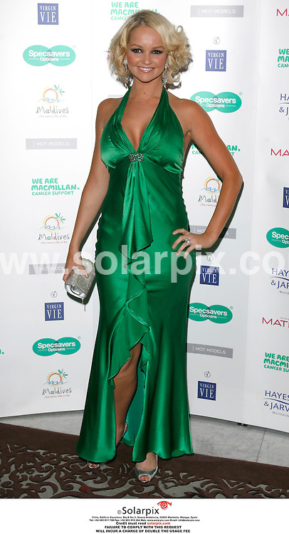 ALL ROUND PICTURES FROM SOLARPIX.COM.Jennifer Ellison arrives for the Spectacle Wearer of the year awards at the Waldorf Hilton Hotel, Aldwych in London. Job ref. SFE 2874..MUST CREDIT SOLARPIX.COM OR DOUBLE FEE WILL CHARGED...