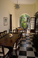 Dining room at Posada El Castillo, former home of Edward James in Xilitla, San Luis Potosi state, Mexico