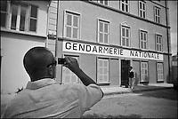 Europe/France/Provence -Alpes-Cote d'Azur/83/Var/Saint-Tropez: La Gendarmerie  célèbre depuis Le Gendarme de Saint-Tropez, film français réalisé par Jean Girault,