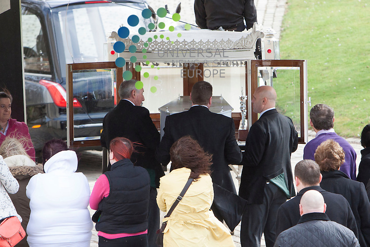 The funeral of 12-year-old Keane Wallis-Bennett  who died after a wall fell on her at an Edinburgh school.<br />