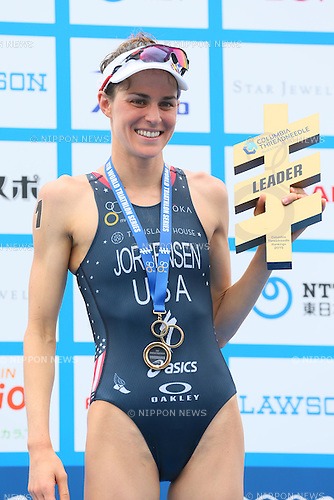 Gwen Jorgensen (USA), <br /> MAY 16, 2015 - Triathlon : <br /> 2015 ITU World Triathlon Series Yokohama <br /> Women's Elite <br /> in Yokohama city, Kanagawa, Japan. <br /> (Photo by YUTAKA/AFLO SPORT)