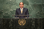 Egypt<br /> H.E. Mr. Abdel Fattah Al Sisi<br /> Presiden<br /> <br /> General Assembly Seventy-first session: Opening of the General Debate 71 United Nations, New York