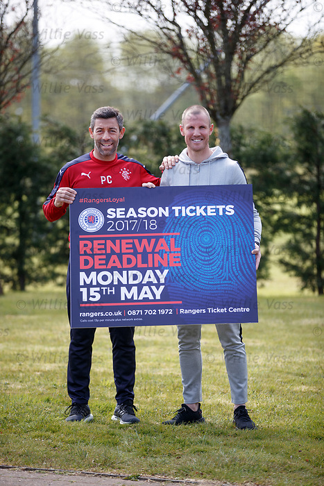 Pedro Caixinha and Kenny Miller promote season ticket renewals