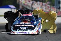 May 5, 2012; Commerce, GA, USA: NHRA funny car driver Courtney Force during qualifying for the Southern Nationals at Atlanta Dragway. Mandatory Credit: Mark J. Rebilas-