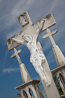 Mexican Cemetery 2 - Photograph taken in El Panteón Cementario, also know as Cementario Viejo or old cemetery, in Puerto Vallarta, Mexico.