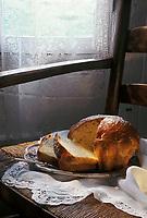 """Europe/France/Aquitaine/40/Landes/Parc Naturel Régional des Landes de Gascogne/Marquèze, écomusée de la Grande Lande: """"Pastis Bourrit"""" ou """"Pastis Landais"""" Stylisme Valérie Lhomme"""