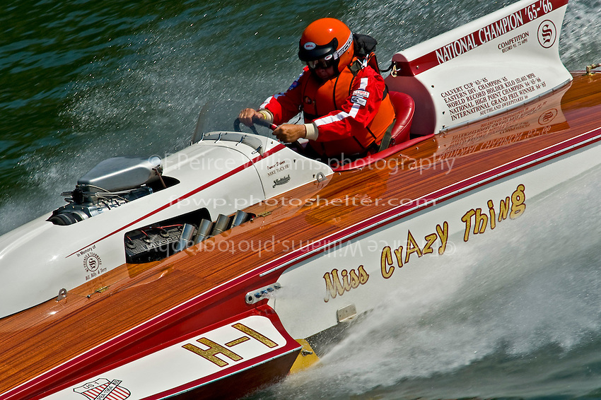 """Mike Tucker, H-1 """"Miss Crazy Thing"""" (7 Litre class Lauterbach hydroplane)"""
