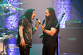 DREAM THEATER - James LaBrie and John Petrucci - performing live at the Eventim Apollo in Hammersmith London UK - 23 Apr 2017.  Photo credit: Zaine Lewis/IconicPix