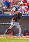 9 March 2013: Miami Marlins outfielder Christian Yelich in action during a Spring Training game against the Washington Nationals at Space Coast Stadium in Viera, Florida. The Nationals edged out the Marlins 8-7 in Grapefruit League play. Mandatory Credit: Ed Wolfstein Photo *** RAW (NEF) Image File Available ***