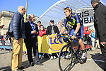 Alex Dowsett (GBR) Movistar Team at sign on for the 115th edition of the Paris-Roubaix 2017 race running 257km Compiegne to Roubaix, France. 9th April 2017.<br /> Picture: Eoin Clarke | Cyclefile<br /> <br /> <br /> All photos usage must carry mandatory copyright credit (&copy; Cyclefile | Eoin Clarke)