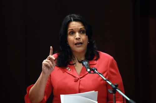 """Diputada Minou Tavárez critica los llamados """"intercambios de disparos"""""""