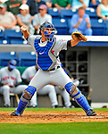 8 March 2009: New York Mets' catcher Josh Thole in action during a Spring Training game against the Washington Nationals at Space Coast Stadium in Viera, Florida. The Nationals defeated the Mets 8-3 in the Grapefruit League matchup. Mandatory Photo Credit: Ed Wolfstein Photo