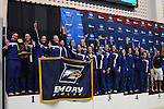 26 MAR 2011: The Emory women's swimming and diving team celebrates during the Division III Menís and Womenís Swimming and Diving Championship held at Allan Jones Aquatic Center in Knoxville, TN. Emory won the national title with a score of 614. David Weinhold/NCAA Photos