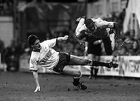 Pix:Michael Steele/SWpix...Soccer. Derby County v Tottenham Hotspur, 1987.COPYRIGHT PICTURE>>SIMON WILKINSON..Derby County v Tottenham Hotspur, 1987.