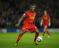 WEST BROMWICH, ENGLAND - Wednesday, September 26, 2012: Liverpool's Andre Wisdom in action against West Bromwich Albion during the Football League Cup 3rd Round match at the Hawthorns. (Pic by David Rawcliffe/Propaganda)