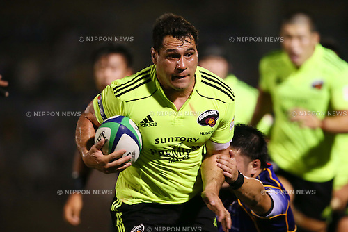 George Smith (Sungoliath), AUGUST 30, 2012 - Rugby : Japan Rugby Top League 2013-2014 match between Suntory Sungoliath 32-6 NTT Communications Shining Arcs at Chichibunomiya Rugby Stadium, Tokyo, Japan. (Photo by AFLO SPORT) [1156]