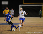 Oxford High's Virginia Terry (13) vs. Saltillo in girls playoff soccer on Monday, February 1, 2010 in Oxford, Miss.