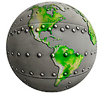 Metal riveted  Globe