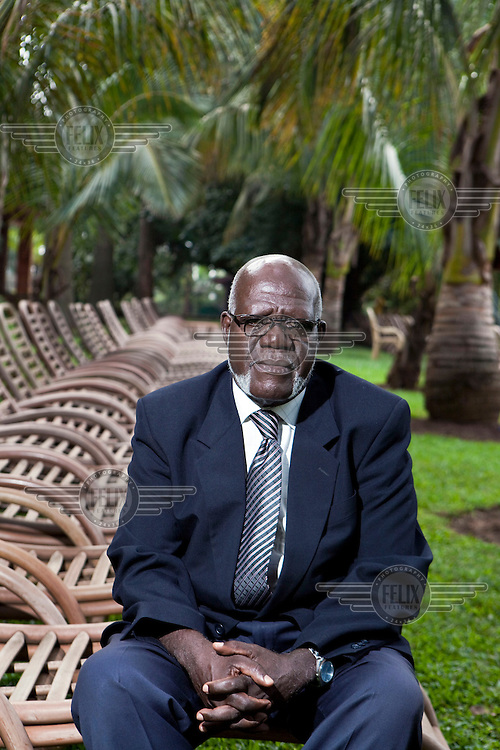 Aids activist Major Rubaramira. 63 year old Mr Rubaramira is HIV positive and campaigns against homophobia. Parts of the Ugandan church and media have been campaigning against homosexuals and lesbians.