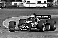 LEXINGTON, OH - JULY 13: Danny Ongais drives his Parnelli VPJ6C/Cosworth during the Red Roof Inns 250 IndyCar race at the Mid-Ohio Sports Car Course near Lexington, Ohio, on July 13, 1980.