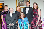 Marie Sweetman, Tim Dan O'Sullivan, Catherine O'Brien, Claire Rohan,  Eoin and Lorraine O'Beara at the Kerry Stars ball in the Malton Hotel on Friday night