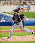 1 March 2017: Miami Marlins pitcher Tom Koehler in Spring Training action against the Houston Astros at the Ballpark of the Palm Beaches in West Palm Beach, Florida. The Marlins defeated the Astros 9-5 in Grapefruit League play. Mandatory Credit: Ed Wolfstein Photo *** RAW (NEF) Image File Available ***