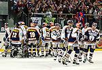Eishockey DEL 1.Bundesliga 2002/2003 Nuernberg (Germany) Nuernberg IceTigers - Eisbaeren Berlin (1:4) Eisbaeren Schlussjubel
