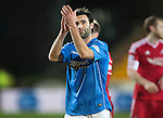 St Johnstone v Aberdeen...23.01.15   SPFL<br /> Simon Lappin applauds the fans at full time<br /> Picture by Graeme Hart.<br /> Copyright Perthshire Picture Agency<br /> Tel: 01738 623350  Mobile: 07990 594431
