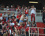 Arkansas fan at Reynolds Razorback Stadium in Fayetteville, Ark. on Saturday, October 23, 2010.