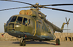 Afghan Air Force Mi 17 helicopter in Herat