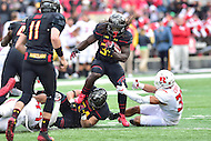 College Park, MD - NOV 26, 2016: Maryland Terrapins running back Kenneth Goins Jr. (30) in action during the game between Maryland and Rutgers at Capital One Field at Maryland Stadium in College Park, MD. Maryland defeated Rutgers 31-13. (Photo by Phil Peters/Media Images International)