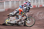 Heat 5: Freddie Lindgren (tactical), Adam Shields (red) and Piotr Swiderski - Lakeside Hammers vs Wolverhampton Wolves - Elite League Speedway at Arena Essex Raceway - 16/05/11 - MANDATORY CREDIT: Gavin Ellis/TGSPHOTO - Self billing applies where appropriate - Tel: 0845 094 6026
