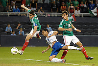 Hirim Mier (3) Mexico has a shot on goal... Mexico defeated Honduras 2-1 after extra time to win the CONCACAF Olympic qualifying trophy at LIVESTRONG Sporting Park, Kansas City, Kansas.